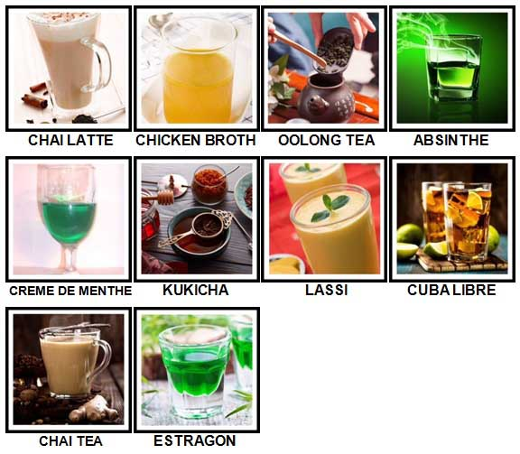 100 Pics Drinks Level 91-100 Answers