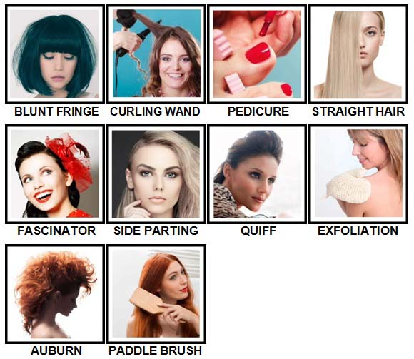 100 Pics Hair and Make Up Level 61-70 Answers