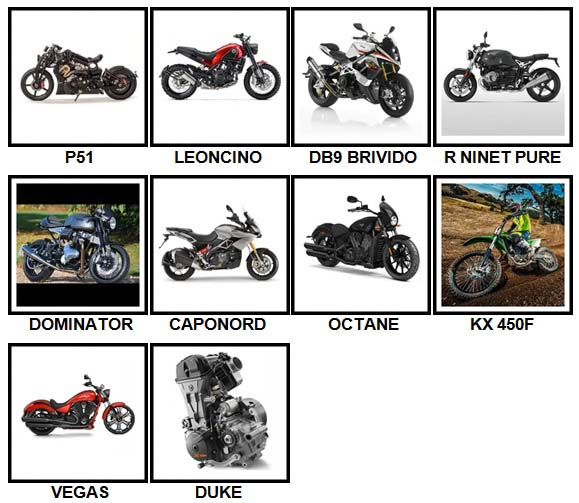 100 Pics Motorcycles Level 91-100 Answers