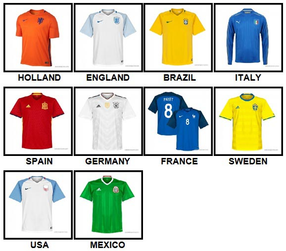 100 Pics Soccer World Level 1-10 Answers