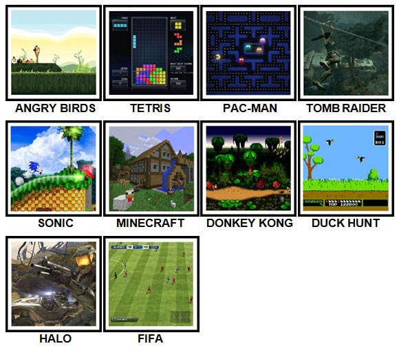 100 Pics Video Games Level 1-10 Answers
