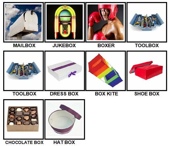 100 Pics Boxes Level 11-20 Answers