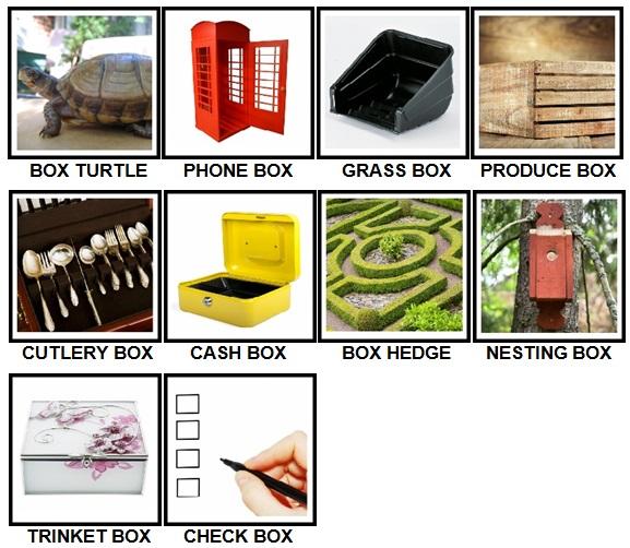 100 Pics Boxes Level 41-50 Answers