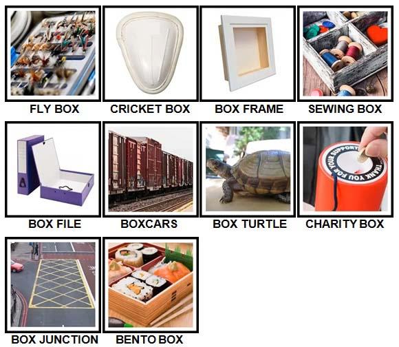 100 Pics Boxes Level 51-60 Answers
