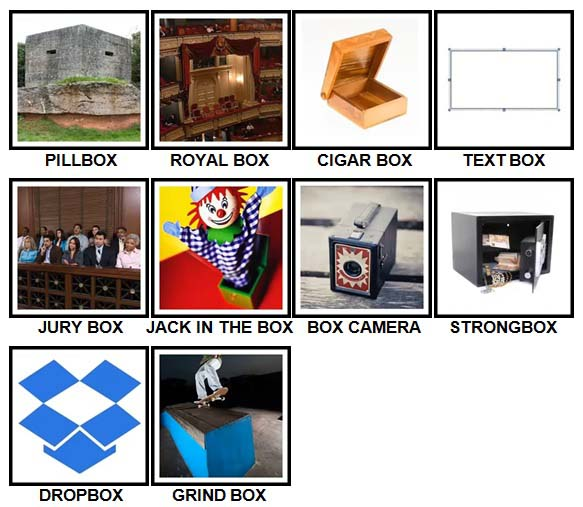 100 Pics Boxes Level 71-80 Answers