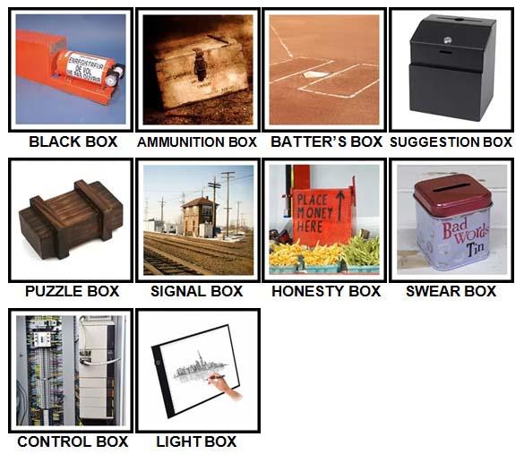 100 Pics Boxes Level 81-90 Answers