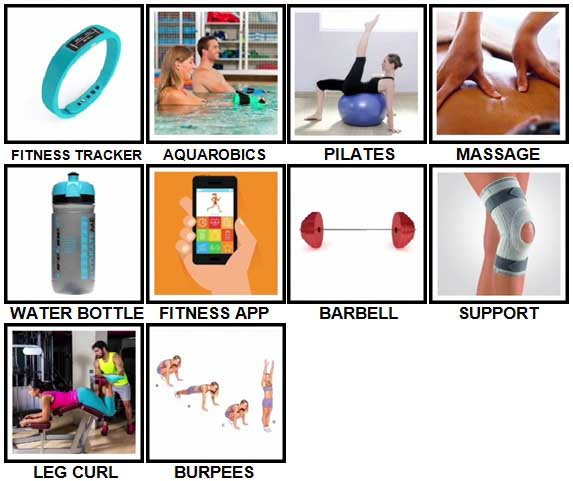 100 Pics Fitness Level 71-80 Answers