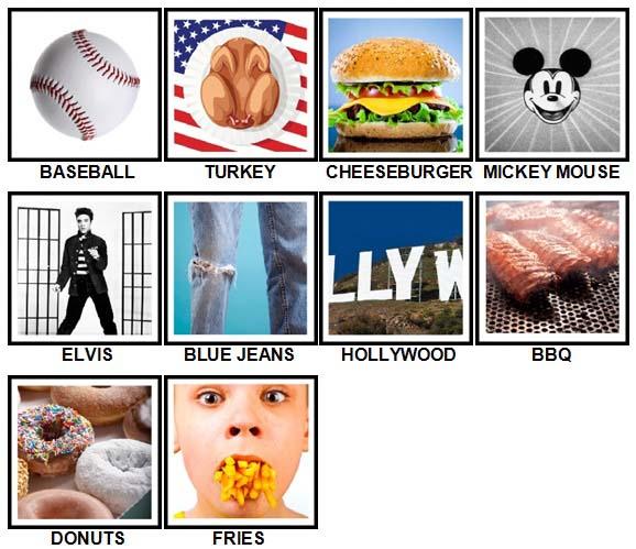 100 Pics I Love USA Level 1-10 Answers