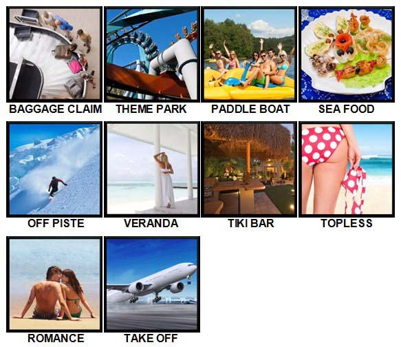 100 Pics Vacations Level 81-90 Answers