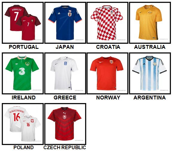 100 Pics Football World Level 11-20 Answers