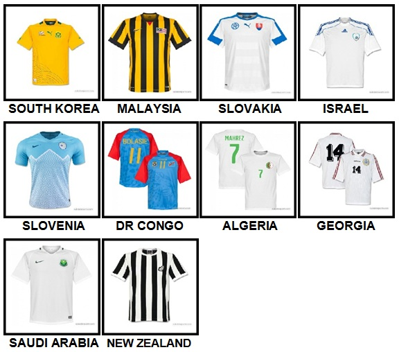 100 Pics Football World Level 71-80 Answers