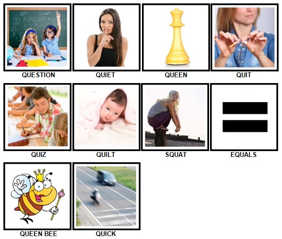 100 Pics Q is In Level 1-10 Answers