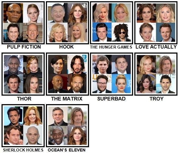 100 Pics 4 Stars 1 Movie Level 1-10