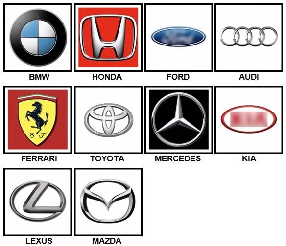 100 Pics Car Logos Answers Level 1-10