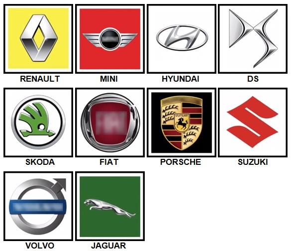 100 Pics Car Logos Level 11-20 Answers