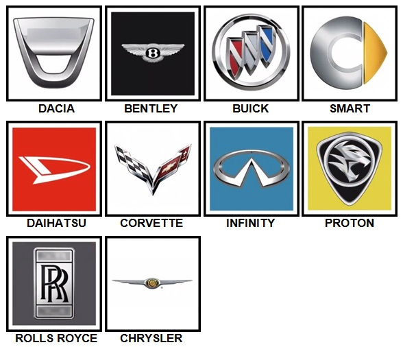 100 Pics Car Logos Level 41-50 Answers