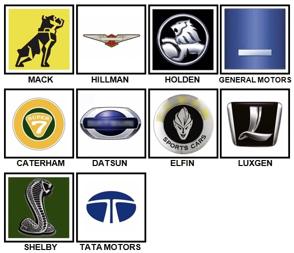 100 Pics Car Logos Level 71-80 Answers