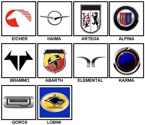 100 Pics Car Logos Level 81-90 Answers