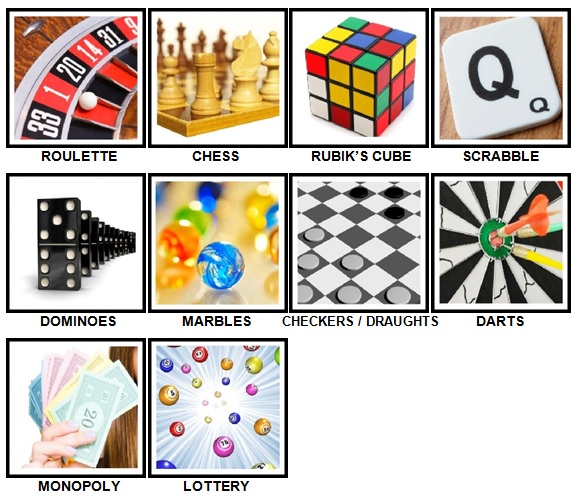 100 Pics Games Level 1-10 Answers