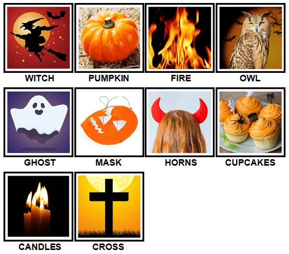 100 Pics Halloween Level 1-10 Answers