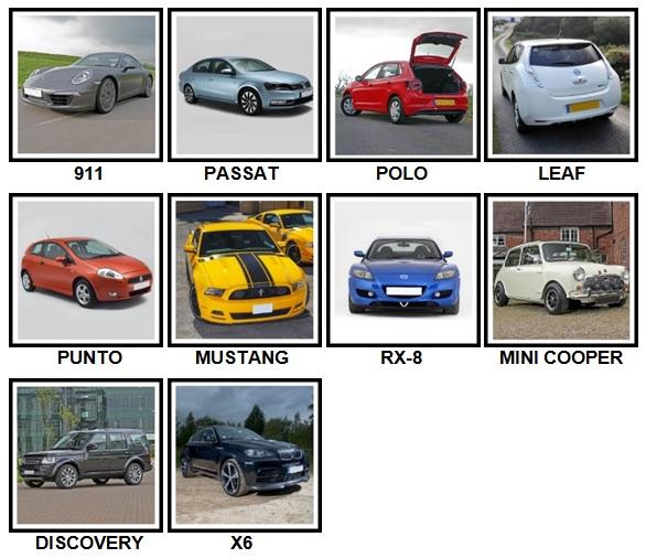 100 Pics Cars Level 21-30 Answers