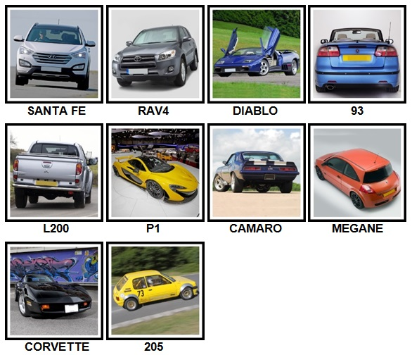 100 Pics Cars Level 41-50 Answers