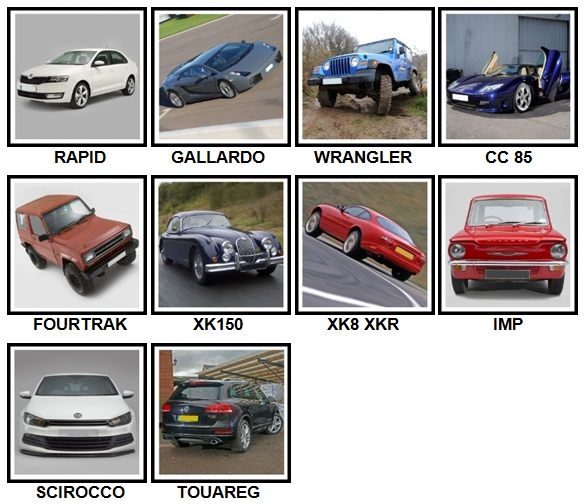 100 Pics Cars Level 71-80 Answers