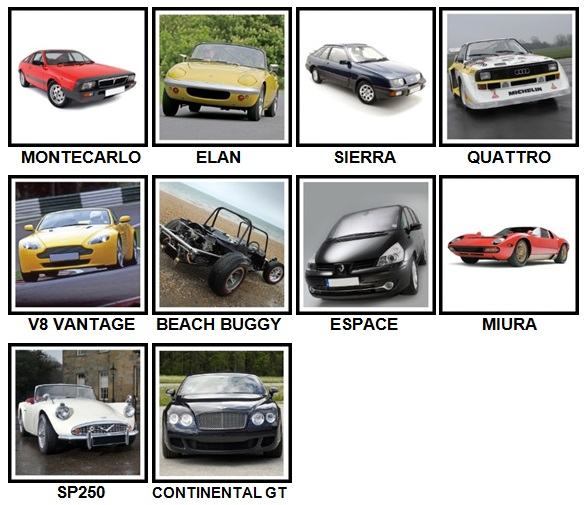 100 Pics Cars Level 81-90 Answers
