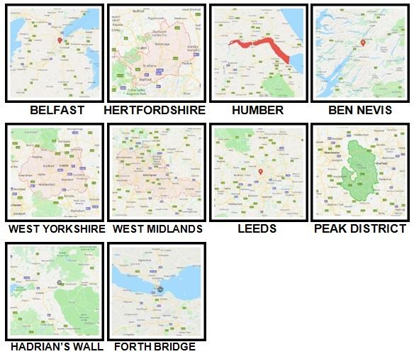 100 Pics UK Places Level 41-50 Answers