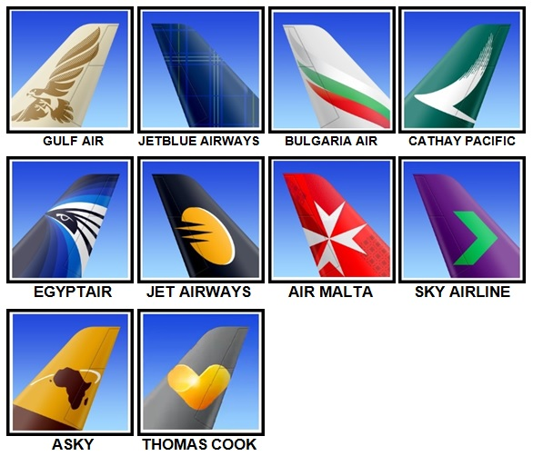 100 Pics Airlines Level 31-40 Answers