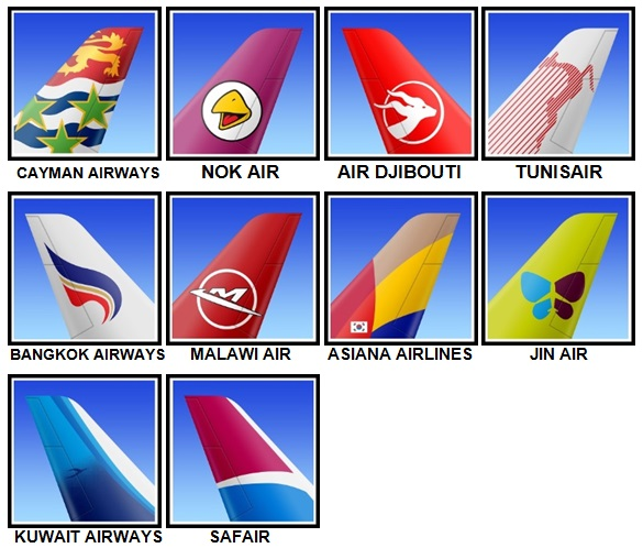 100 Pics Airlines Level 81-90 Answers