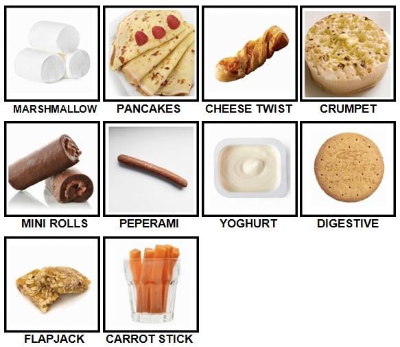 100 Pics Snacks Level 41-50