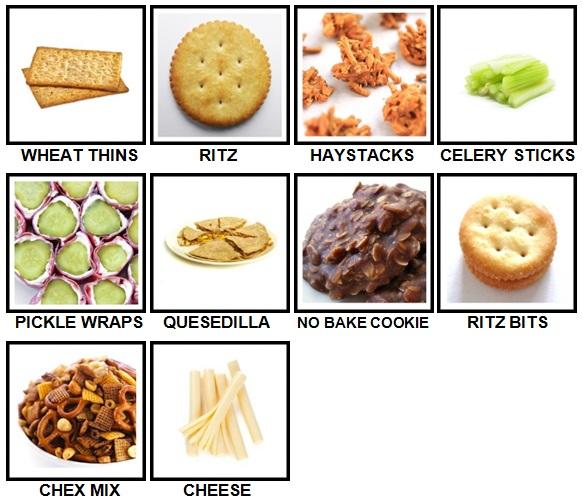 100 Pics Snacks Level 61-70 Answers