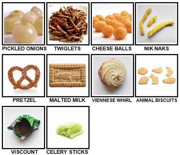 100 Pics Snacks Level 61-70