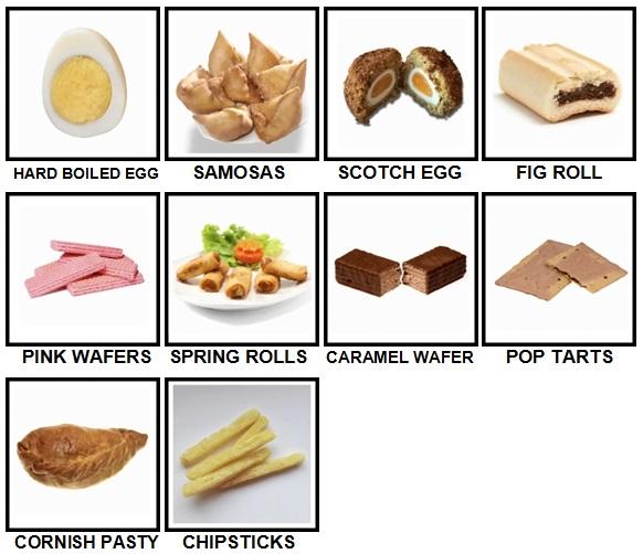 100 Pics Snacks Level 71-80