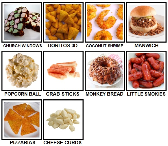 100 Pics Snacks Level 81-90 Answers