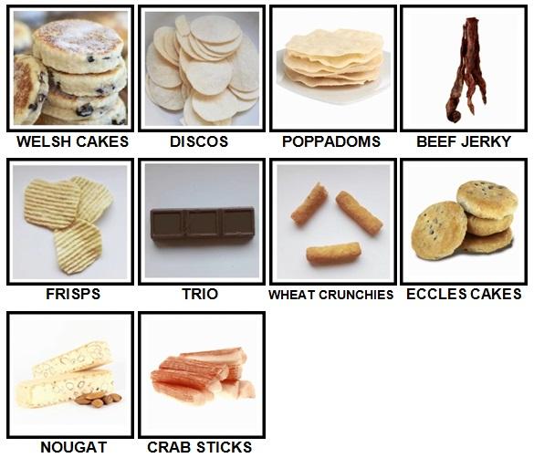 100 Pics Snacks Level 81-90