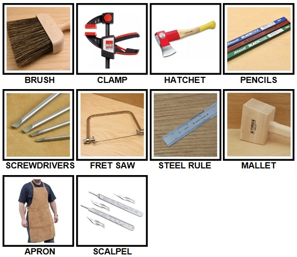 100 Pics Woodworking Level 1-10 Answers
