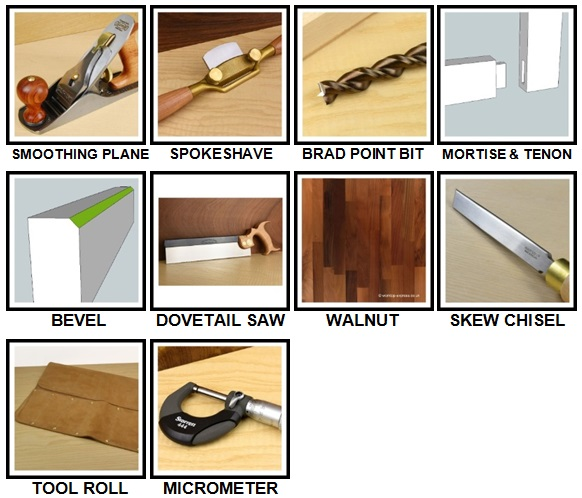 100 Pics Woodworking Level 21-30 Answers