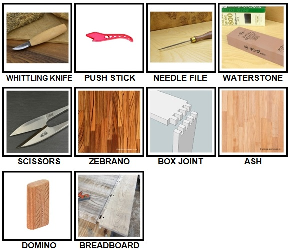 100 Pics Woodworking Level 31-40 Answers