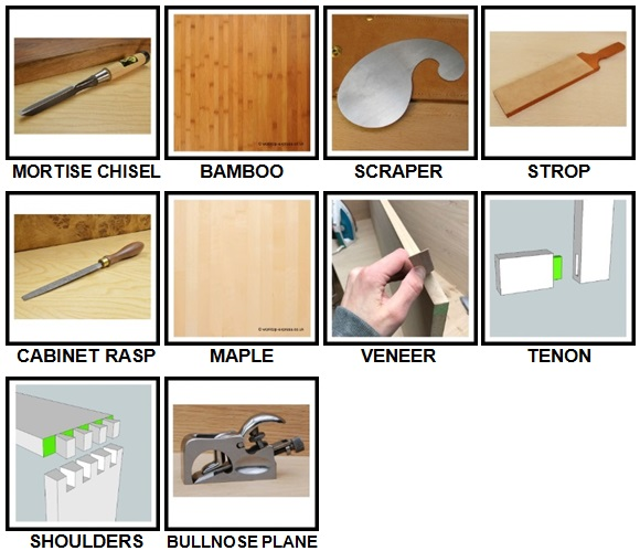100 Pics Woodworking Level 51-60 Answers