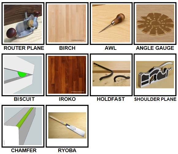 100 Pics Woodworking Level 61-70 Answers