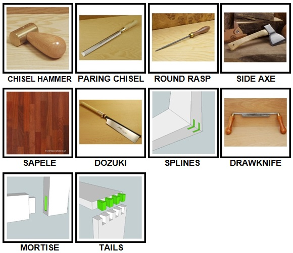 100 Pics Woodworking Level 71-80 Answers