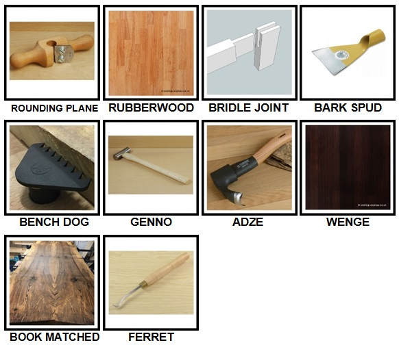 100 Pics Woodworking Level 91-100 Answers