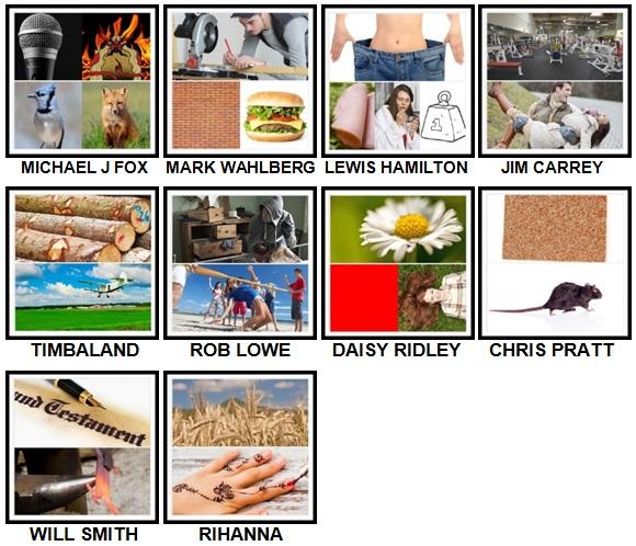 100 Pics Who am I Level 41-50 Answers