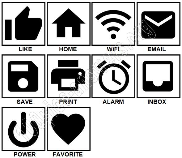 100 Pics Digital Icons Level 1-10 Answers