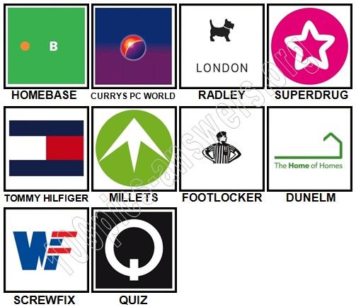 100 Pics Shops Level 31-40 Answers