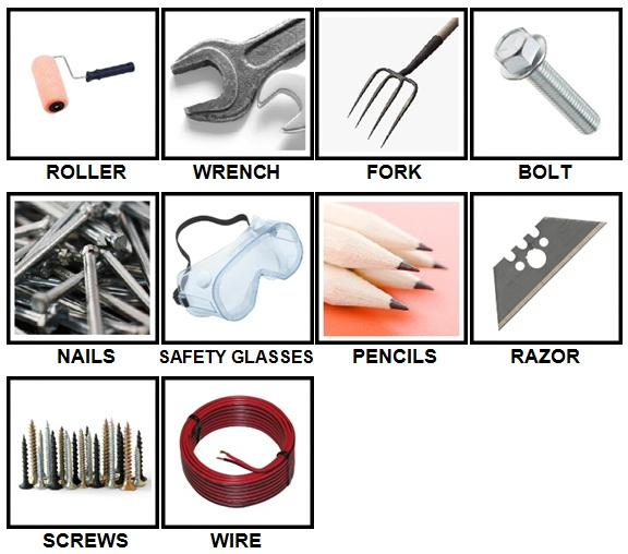 100 Pics Toolbox Answers 1-10