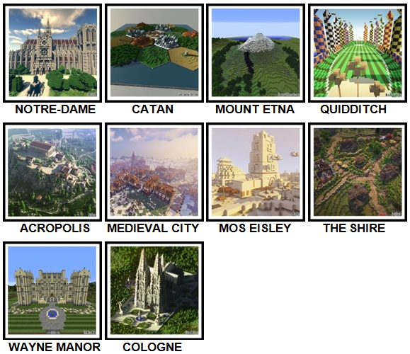 100 Pics Made In Minecraft Level 41-54