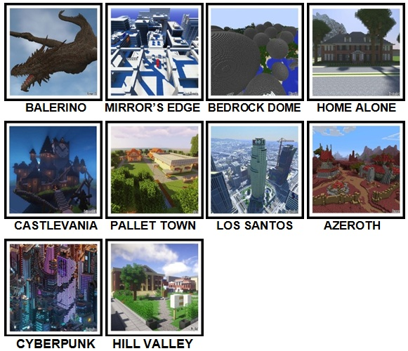 100 Pics Made In Minecraft Level 51-60